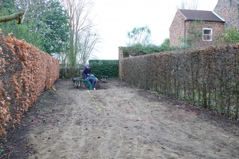 Starting work on the Rill Garden