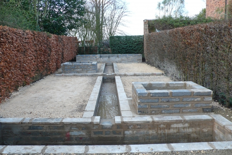 The Rill Garden ready for planting