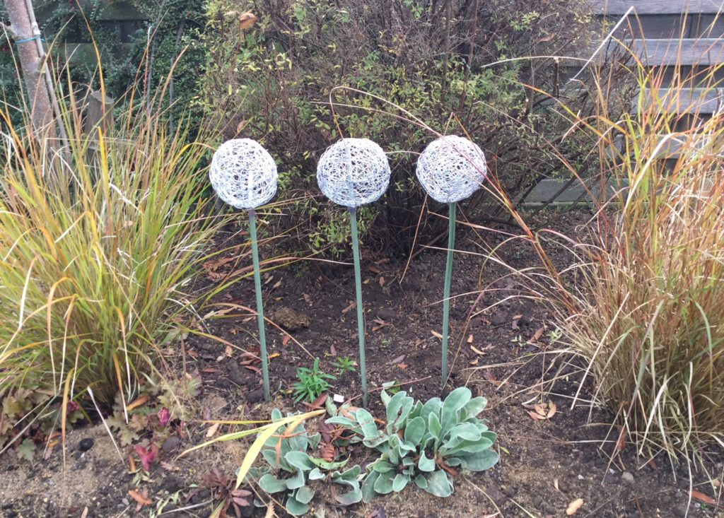 wire alliums by Chris Moss
