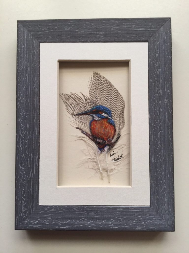 Paintings on Feathers by Linda Taylor