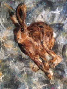 Hare in Felt by Pam Chilton