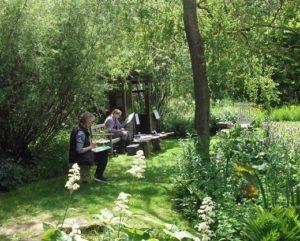 art course in the garden