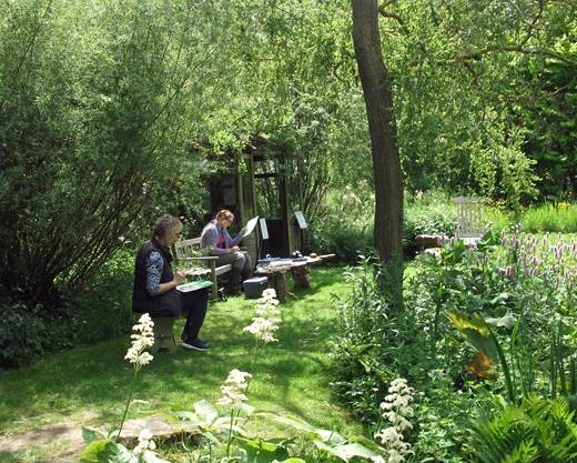art course in the garden
